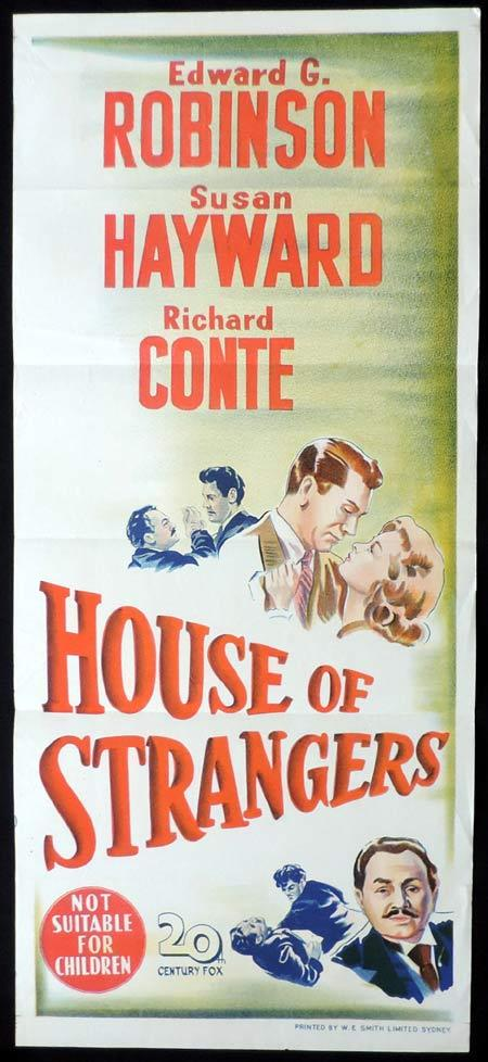HOUSE OF STRANGERS Original Daybill Movie Poster Edward G. Robinson