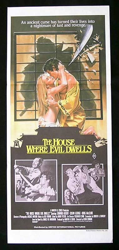 THE HOUSE WHERE EVIL DWELLS Original Daybill Movie Poster Edward Albert Susan George Doug McClure