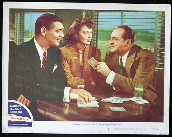 THE HUCKSTERS Lobby Card 6 Clark Gable Deborah Kerr