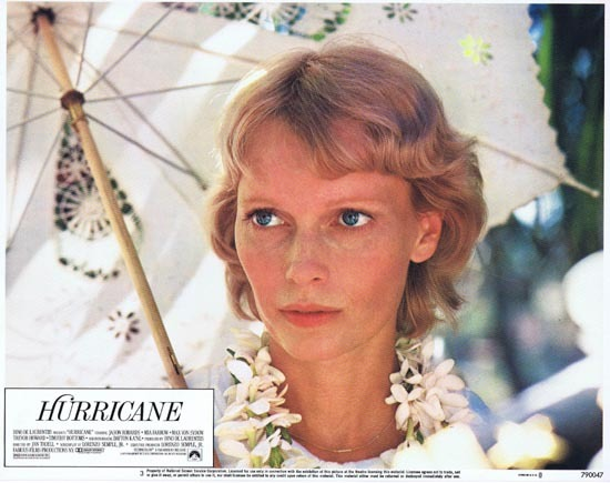 HURRICANE 1979 Lobby Card 2 Mia Farrow portrait