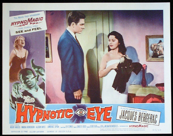 THE HYPNOTIC EYE Lobby card 7 1960 Jacques Bergerac HYPNOMAGIC