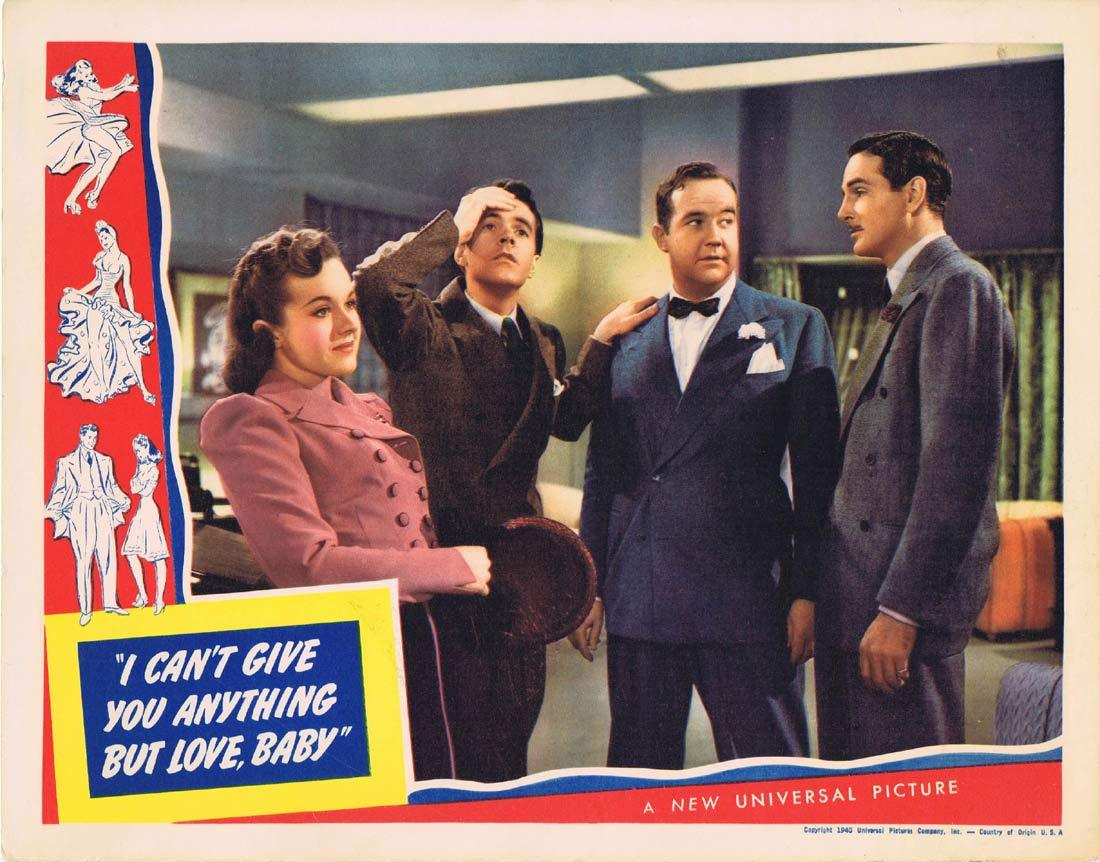 I CAN'T GIVE YOU ANYTHING BUT LOVE BABY Original Lobby Card Broderick Crawford Jessie Ralph Johnny Downs 1940
