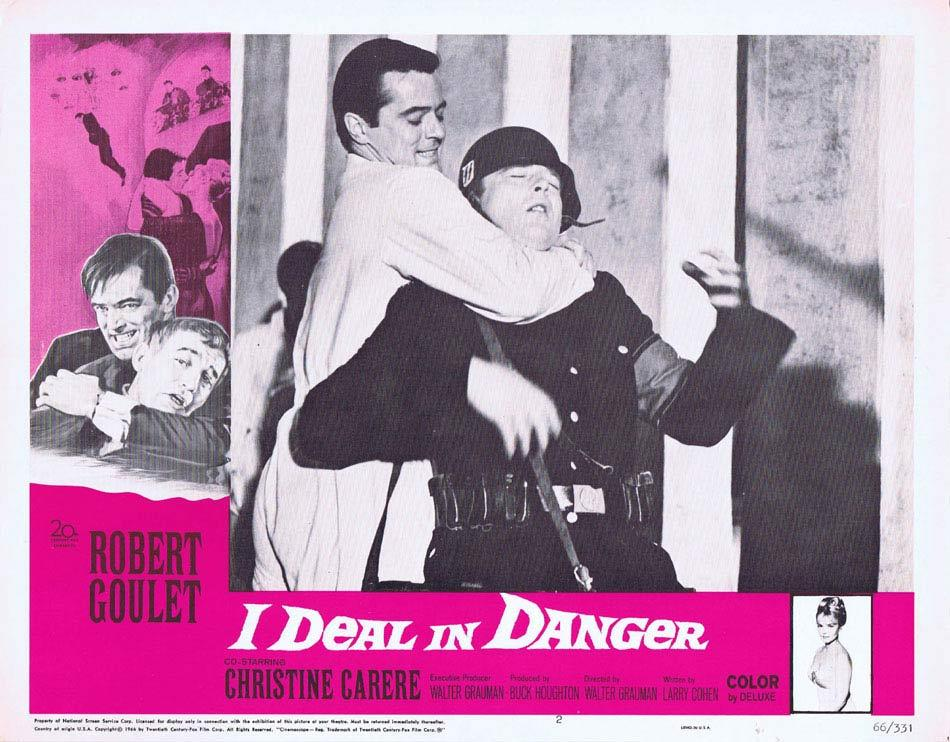 I DEAL IN DANGER Lobby Card 2 Robert Goulet Christine Carère
