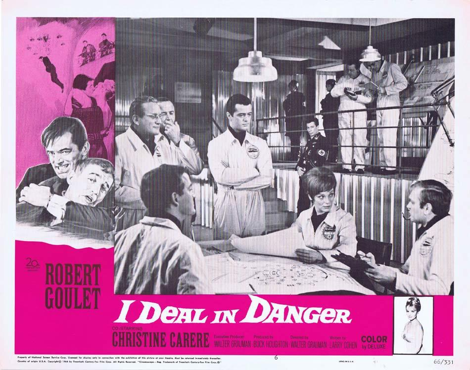 I DEAL IN DANGER Lobby Card 6 Robert Goulet Christine Carère