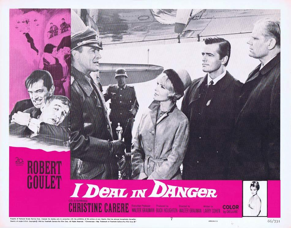I DEAL IN DANGER Lobby Card 7 Robert Goulet Christine Carère