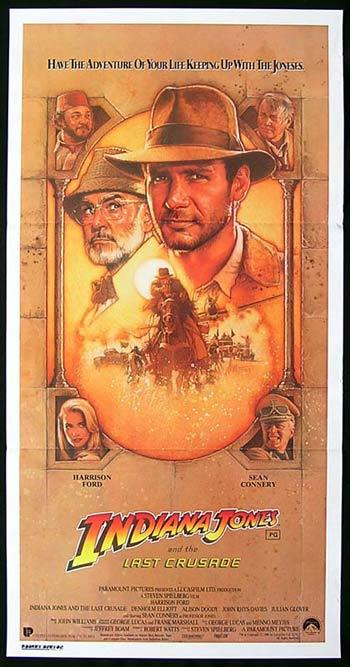 INDIANA JONES AND THE LAST CRUSADE '89 Australian daybill Movie poster