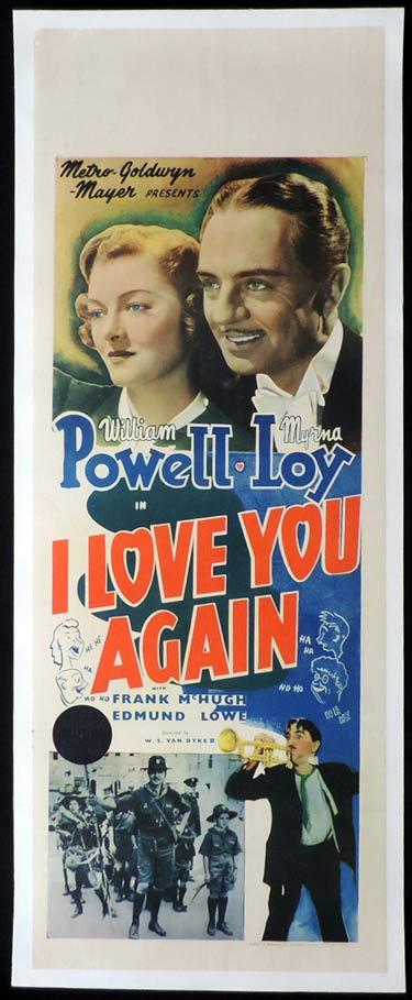 I LOVE YOU AGAIN Long Daybill Movie poster William Powell Myrna Loy