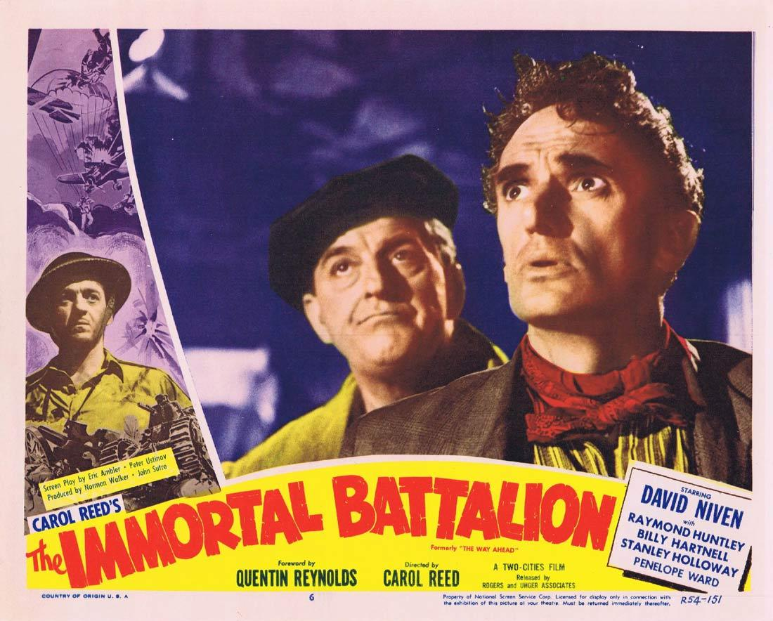 THE IMMORTAL BATTALION Lobby Card 6 David Niven Stanley Holloway William Hartnell 1954r