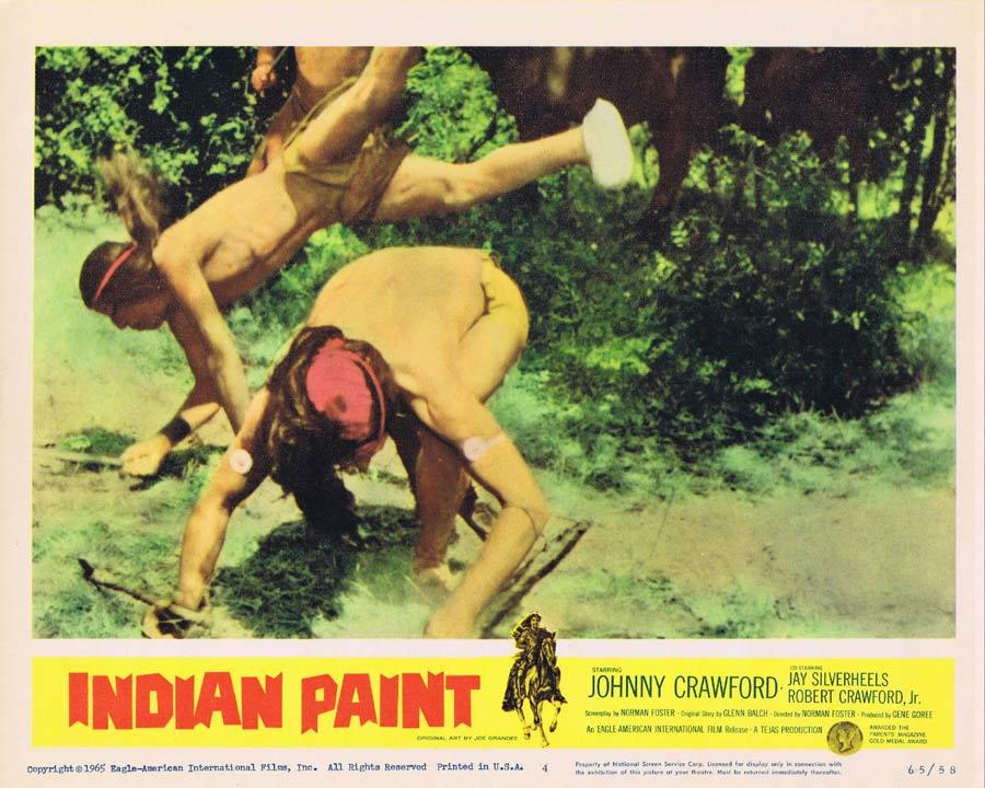 INDIAN PAINT Lobby Card 4 Johnny Crawford American Indian