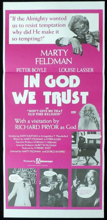 IN GOD WE TRUST Original Daybill Movie Poster Marty Feldman Peter Boyle