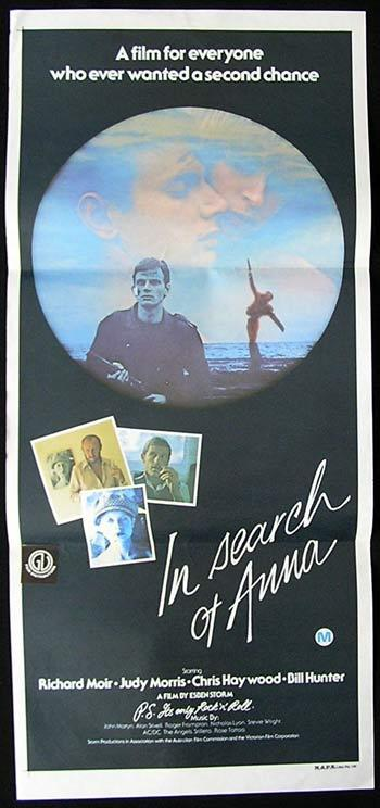 IN SEARCH OF ANNA 1978 Richard Moir RARE Movie poster