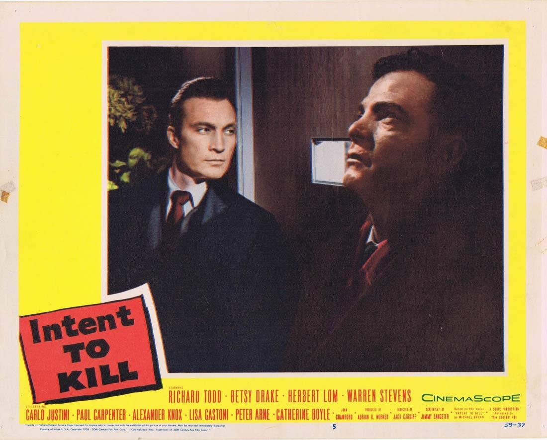 INTENT TO KILL Lobby Card 5 Richard Todd Betsy Drake Herbert Lom