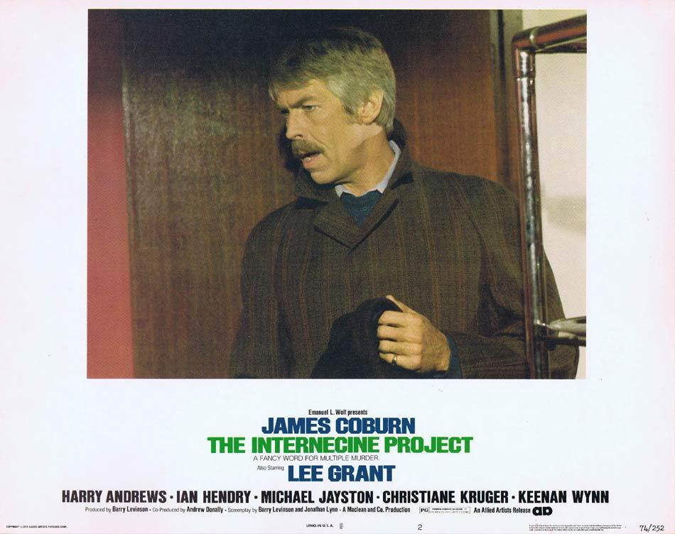 THE INTERNECINE PROJECT Lobby Card 2 James Coburn Lee Grant Harry Andrews Ian Hendry