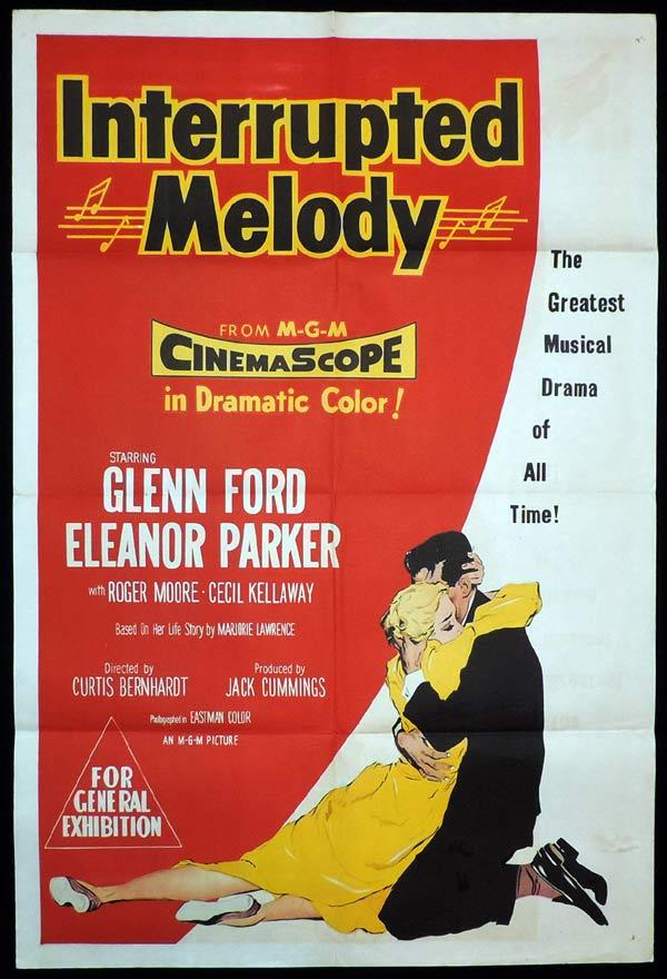 INTERRUPTED MELODY One Sheet Movie Poster Glenn Ford Eleanor Parker