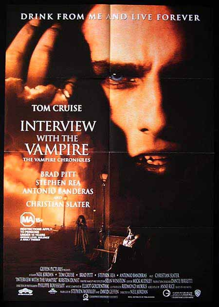interview with the vampire movie poster 1994 cruise pitt 1sht