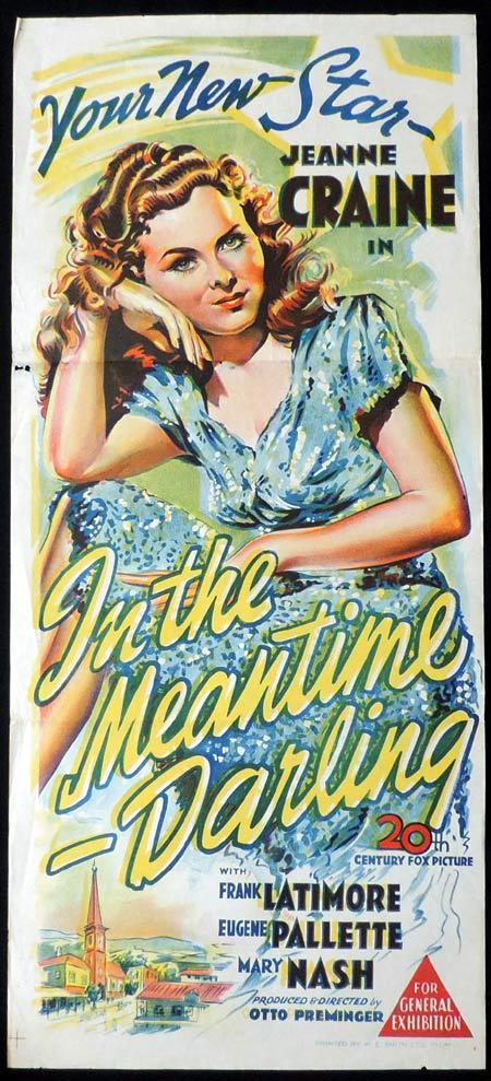 IN THE MEANTIME Original Daybill Movie Poster Jeanne Crain