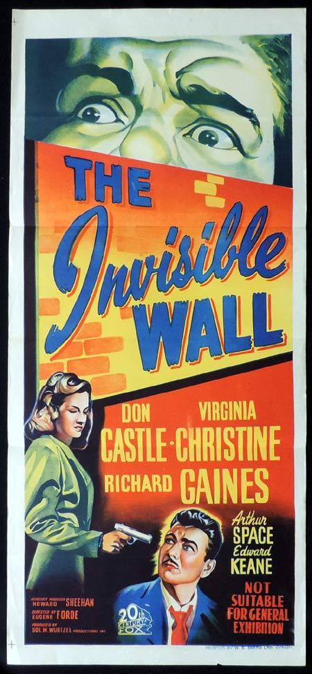 THE INVISIBLE WALL Original Daybill Movie Poster Clark Don Castle Film Noir