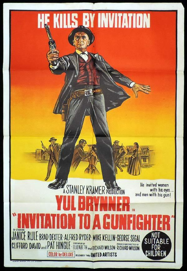 INVITATION TO A GUNFIGHTER One Sheet Movie Poster Yul Brynner