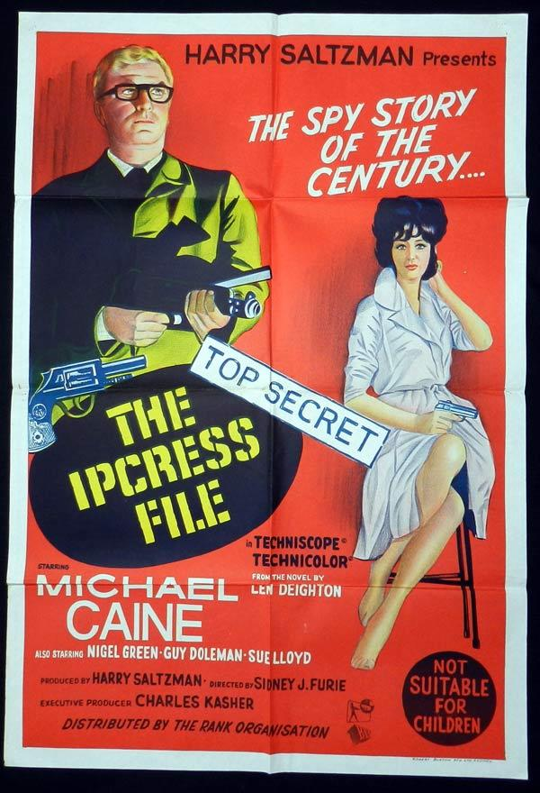 THE IPCRESS FILE One Sheet Movie Poster Michael Caine