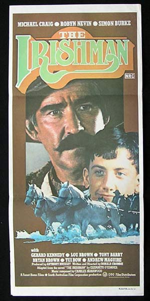 THE IRISHMAN 1978 Rare Country of Origin Daybill Movie poster