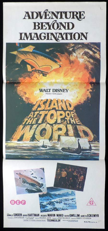 ISLAND AT THE TOP OF THE WORLD Original Daybill Movie Poster Walt Disney Donald Sinden