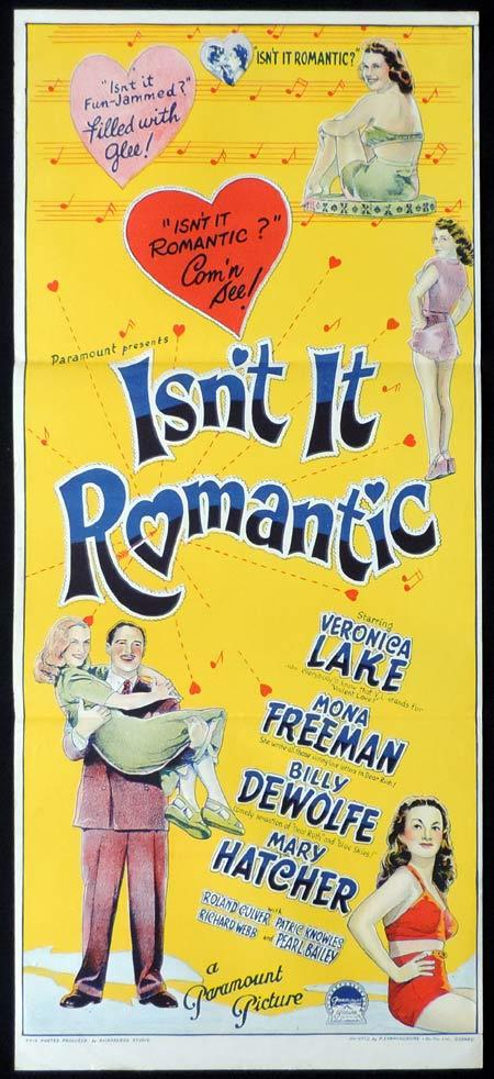 ISNT IT ROMANTIC Original Daybill Movie Poster VERONICA LAKE Richardson Studio