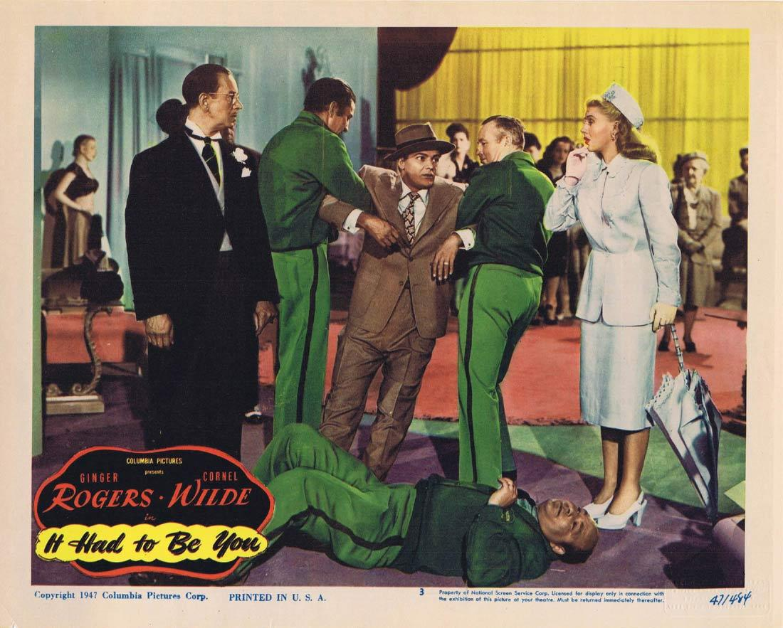 IT HAD TO BE YOU Lobby Card 3 Ginger Rogers Cornel Wilde