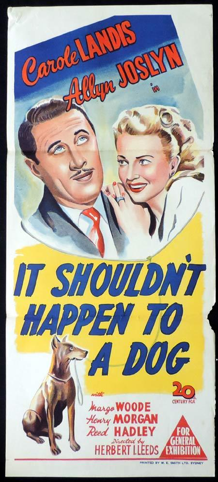 IT SHOULDN'T HAPPEN TO A DOG Original Daybill Movie Poster Carole Landis