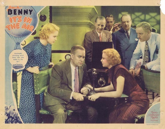 IT'S IN THE AIR 1935 Lobby Card Jack Benny