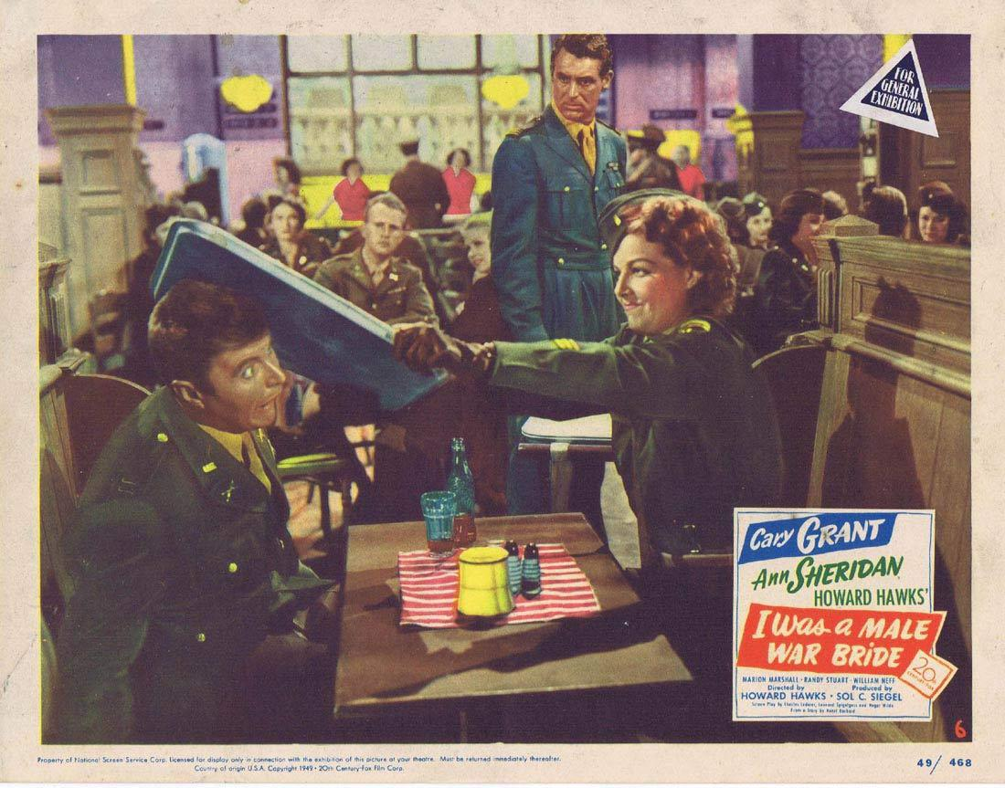 I WAS A MALE WAR BRIDE Lobby Card 6 Cary Grant Ann Sheridan Marion Marshall