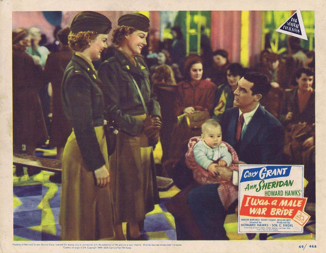 I WAS A MALE WAR BRIDE Lobby Card 7 Cary Grant Ann Sheridan Marion Marshall