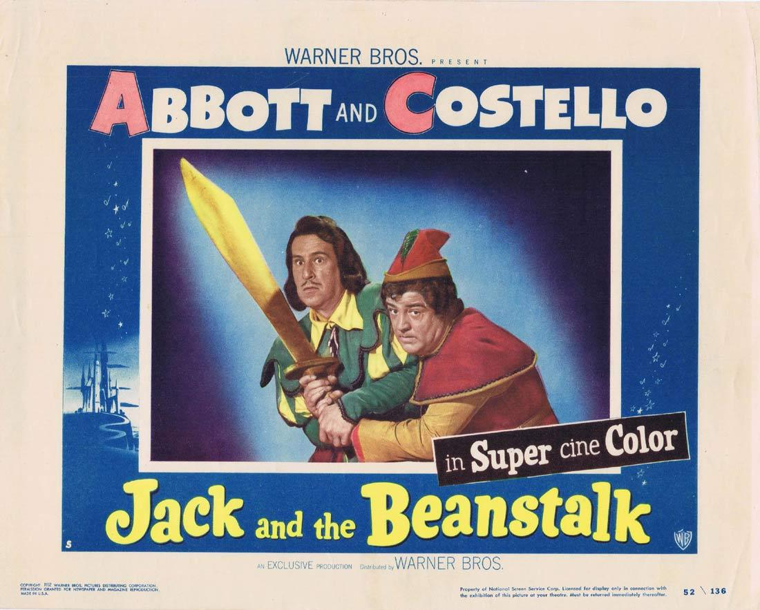 JACK AND THE BEANSTALK Lobby Card 5 Abbott and Costello