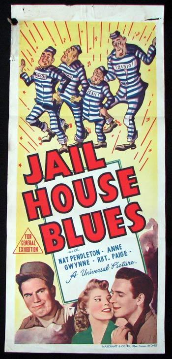 JAIL HOUSE BLUES Daybill Movie poster Nat Pendleton MARCHANT graphics