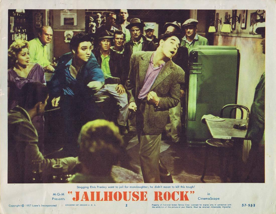 JAILHOUSE ROCK Original Lobby Card 2 Elvis Presley 1957