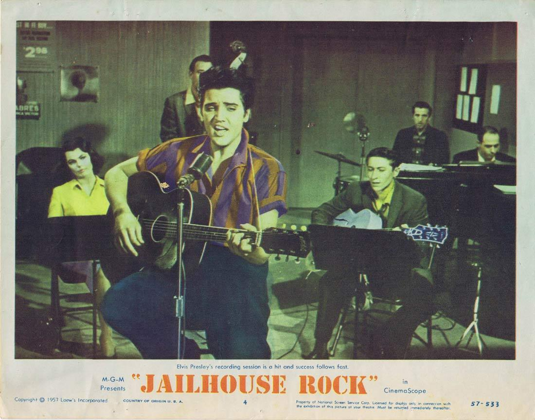 JAILHOUSE ROCK Original Lobby Card 4 Elvis Presley 1957