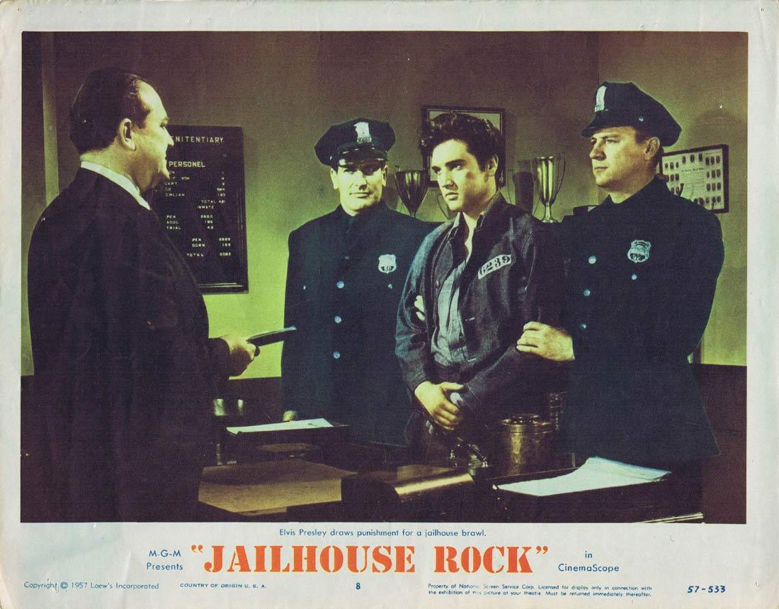 JAILHOUSE ROCK Original Lobby Card 8 Elvis Presley 1957