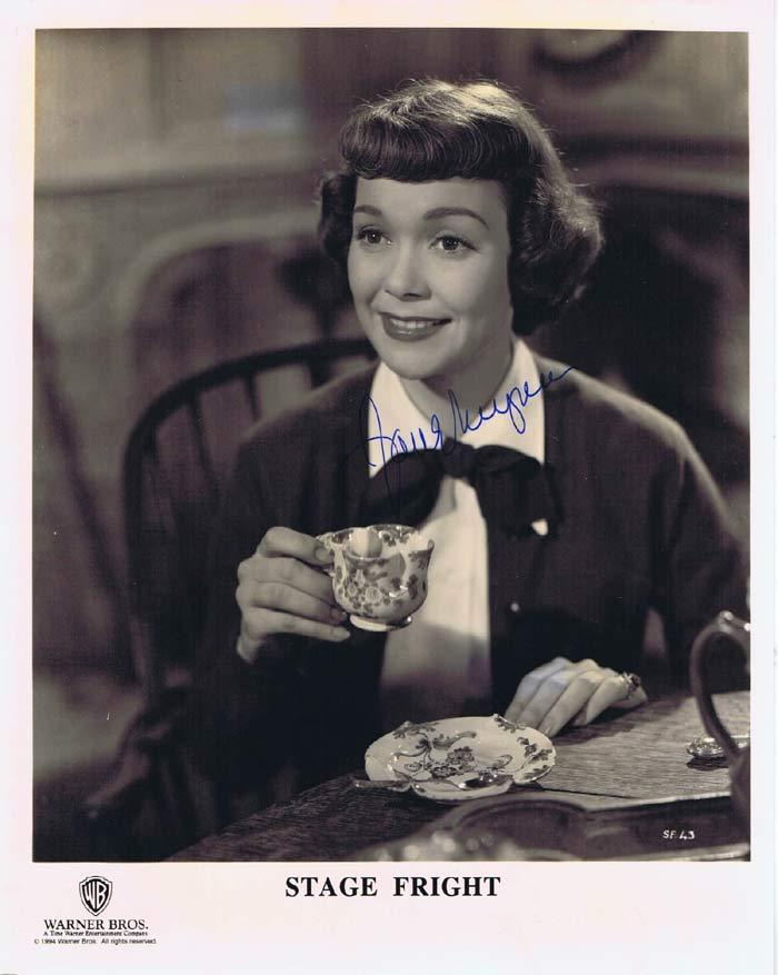 JANE WYMAN Alfred Hitchcock's STAGE FRIGHT Autograph 8 x 10 Photo
