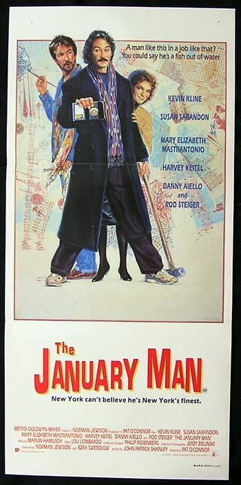 THE JANUARY MAN Original Daybill Movie Poster Susan Sarandon Kevin Kline