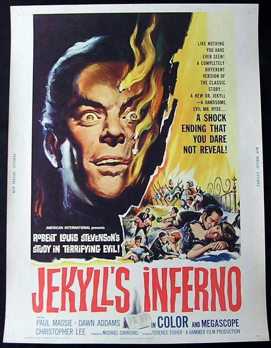 JEKYLL'S INFERNO '61 Christopher Lee HAMMER Rare 30 x 40poster