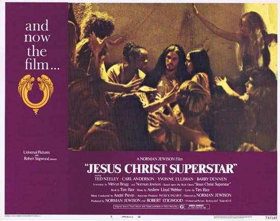 JESUS CHRIST SUPERSTAR Lobby Card 5 Ted Neeley Norman Jewison