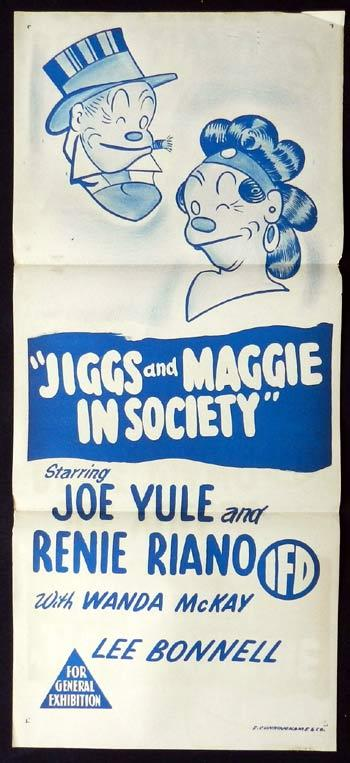 JIGGS AND MAGGIE IN SOCIETY Daybill Movie Poster Joe Rule