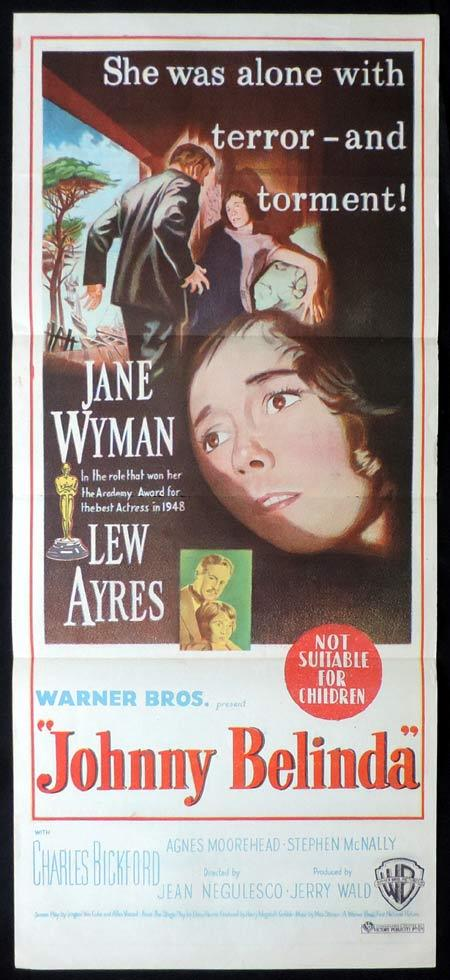 JOHNNY BELINDA Original Daybill Movie Poster Jane Wyman Lew Ayres