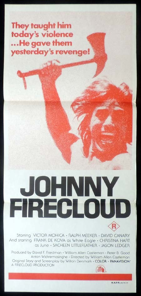 JOHNNY FIRECLOUD, Original Daybill, Movie poster, Ralph Meeker, American Indian