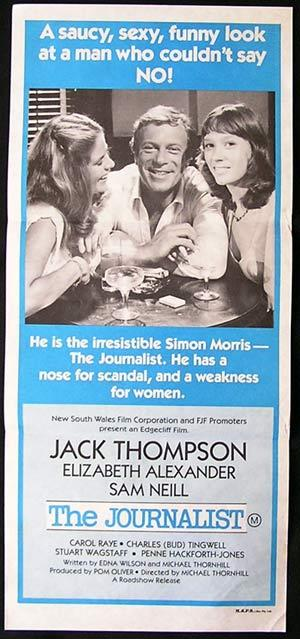 THE JOURNALIST Movie Poster 1979 Jack Thompson Australian Daybill