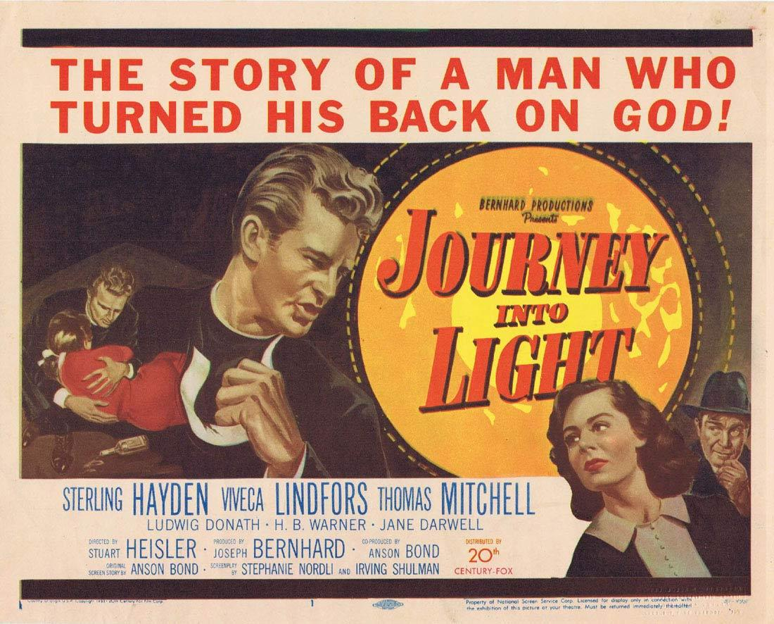 JOURNEY INTO LIGHT Sterling Hayden Title Lobby card