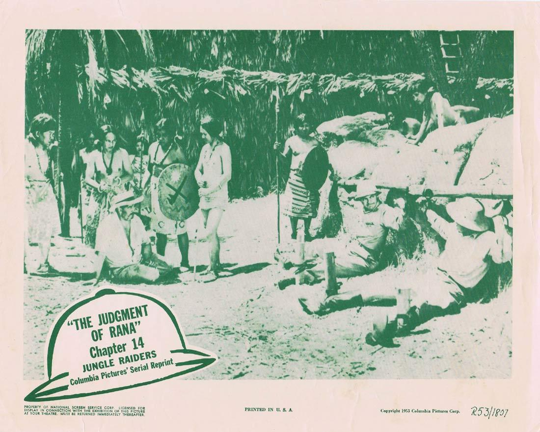 JUNGLE RAIDERS Original Lobby Card Columbia Serial 1953r