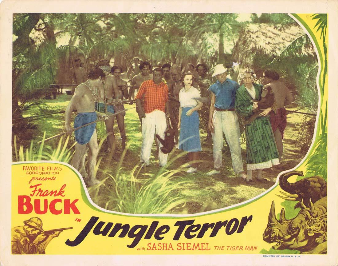 JUNGLE TERROR Original Lobby Card FRANK BUCH Jungle Menace Tiger Man
