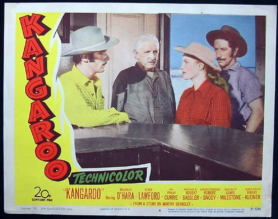 KANGAROO '52 Peter Lawford CHIPS RAFFEERTY US Lobby Card