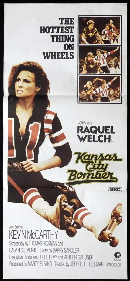 KANSAS CITY BOMBER Daybill Movie Poster Raquel Welch Kevin McCarthy Roller Derby