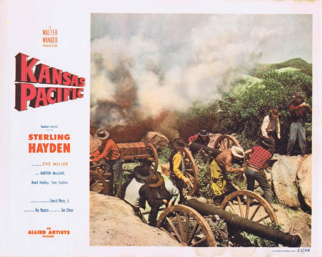 KANSAS PACIFIC Lobby Card 2 Sterling Hayden Eve Miller